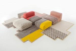 коллекция пуфов и ковров MANGAS SPACE для GAN 2013, дизайн Патриции Уркиолы