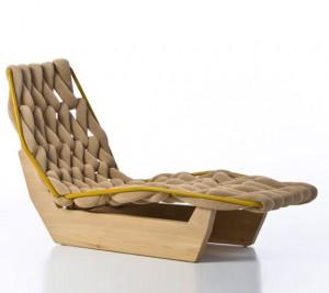Дизайнерская мебель Патриции Уркиолы, шезлонг Biknit для Moroso 2011