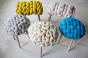 Симпатичные стульчики от лондонского дизайнера Claire-Anne O'Brien